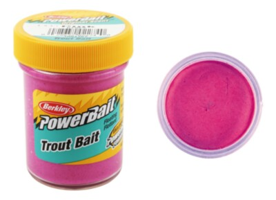 Berkley Powerbait Biodegradable Troutbait - Pink Twin Pack-50g