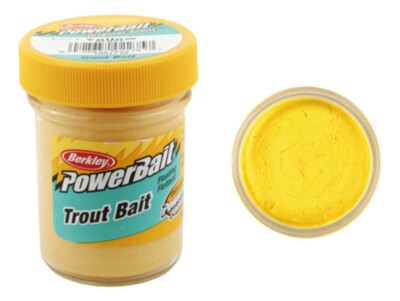 Berkley Powerbait Biodegradable Troutbait - Yellow Twin Pack-50g