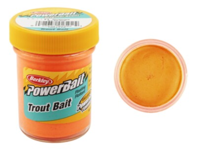 Berkley Powerbait Biodegradable Troutbait - Fluo Orange Twin Pack-50g