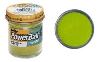 Berkley Powerbait Biodegradable Troutbait - Chartreuse Twin Pack-50g
