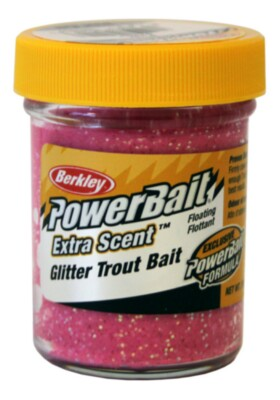 Berkley Powerbaait Select Glitter Troutbait - Pink Twin Pack-50g