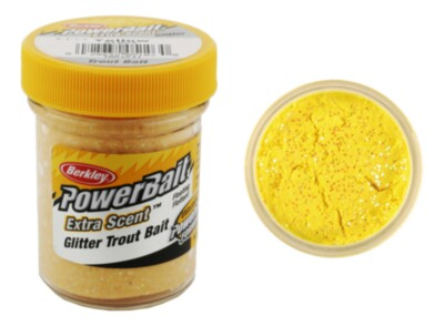 Berkley Powerbait Select Glitter Troutbait - Yellow  Twin Pack-50g
