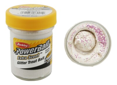 Berkley Powerbait Select Glitter Troutbait - White Twin Pack-50g