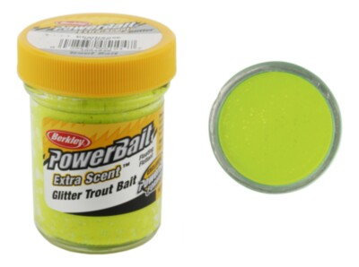 Berkley Powerbait Select Glitter Troutbait - Chartreuse Twin Pack-50g