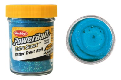 Berkley Powerbait  Select Glitter Troutbait - Blue Neon Twin Pack-50g
