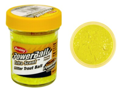Berkley Powerbait Select Glitter Troutbait - Sunshine Yellow Twin Pack-50g