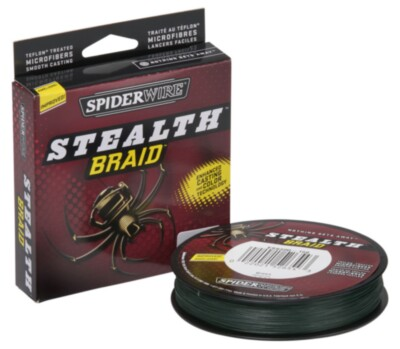 Spiderwire Stealth Moss Green Braid- 300 Yards-10lb