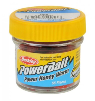 Berkley Powerbait Honey Worms - Red Twin Pack -55pack