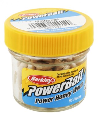 Berkley Powerbait Honey Worms - White Twin Pack -55pack