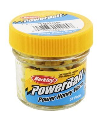 Berkley Powerbait Honey Worms  - Yellow Twin Pack  -55pack