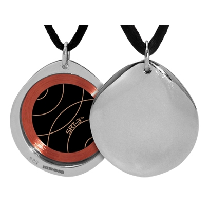 Q-link Polished Pebble Srt-3 Pendant - Silver