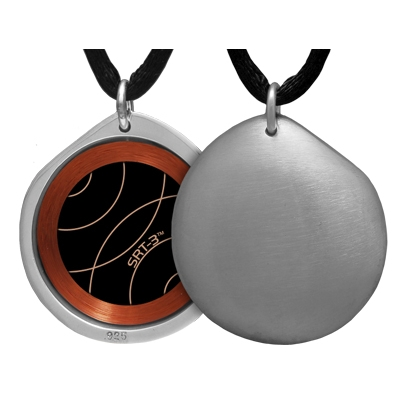 Q-link Brushed Pebble Srt-3 Pendant - Silver