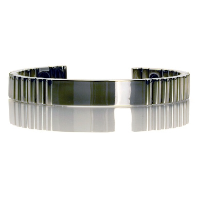 Q-link Polished Titanium Srt-3 Bracelet - Dark Grey - Xl