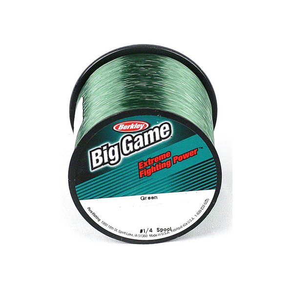 Berkley Trilene Big Game Green (0.018Inch) - Breaking Strain: 20 lb (0.45mm). Length: 2600 yd