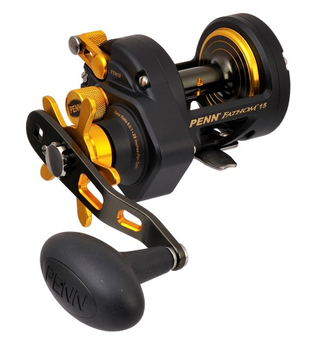 Penn Fathom Non Level Wind Drag Reel - 15lb - Black