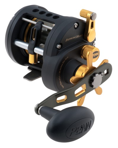 Penn Fathom 20 Left Handed Level Wind Reel - 320yds/17lb - Black