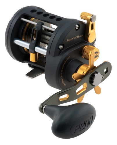 Penn Fathom 25 Left Handed Level Wind Reel - 330yds/20lb - Black