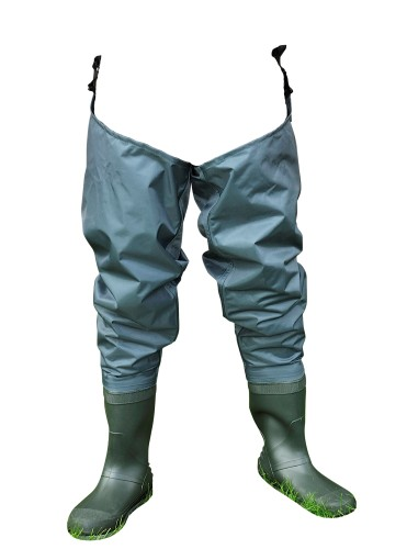 Shakespeare Sigma Nylon Hip Wader Cleated Sole 8 - Green