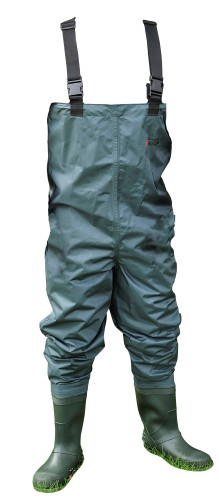 Shakespeare Sigma Nylon Chest Wader Cleated Sole 11 - Green