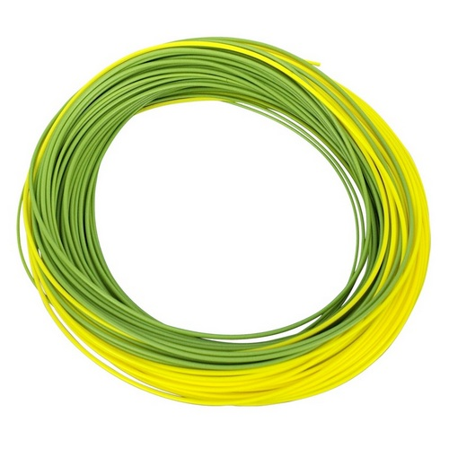 Shakespeare Agility Rise Fly Line - Float Dt4 - Olive Green/sunshine Yellow