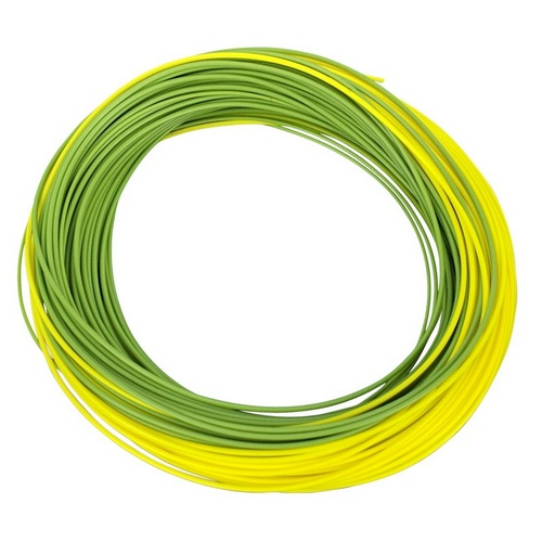Shakespeare Agility Rise Fly Line - Float Wf3 - Olive Green/sunshine Yellow