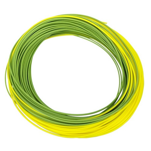 Shakespeare Agility Rise Fly Line - Float Wf5 - Olive Green/sunshine Yellow