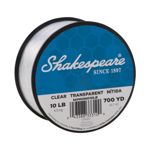 Shakespeare Bulk Bulk Mono Clear Line 700 yds 10 lb - Transparent