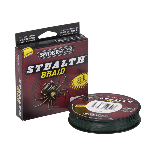Spiderwire Stealth - Moss Green - Breaking Strain: 80 lb (.40 mm). Length: 300 yd