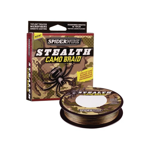 Spiderwire Stealth Camo Braid - Breaking Strain: 80 lb (.40 mm). Length: 300 yd