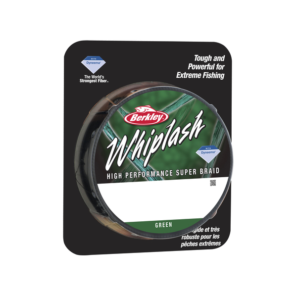 Berkley Whiplash - Green - Breaking Strain: 35 lb (0.12mm). Length: 300 m