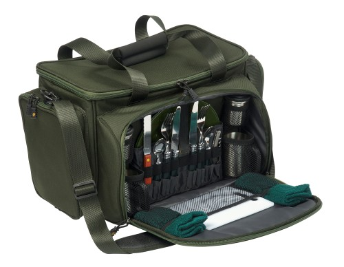 Jrc Contact Cooler Hamper Food Bag Set - Green
