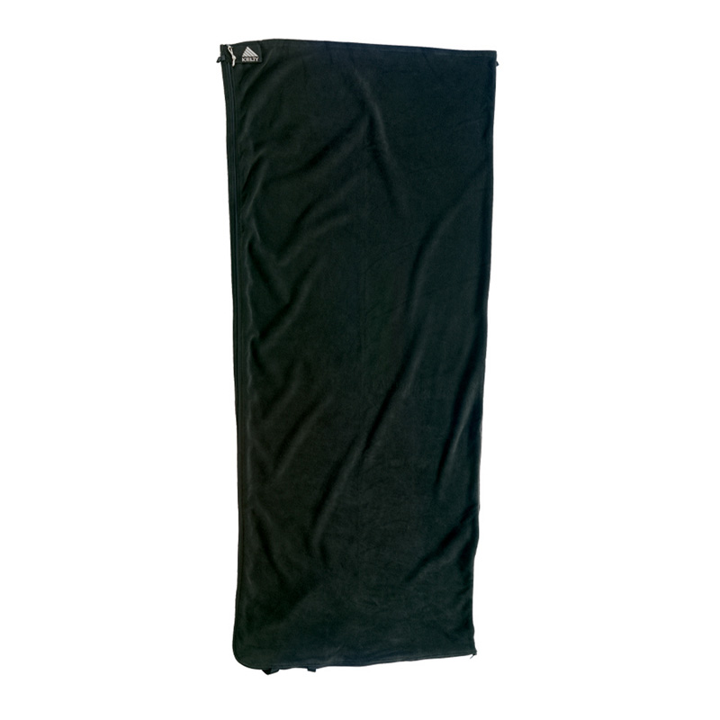 Kelty Fleece Travel Sheet - Rectangular - Black
