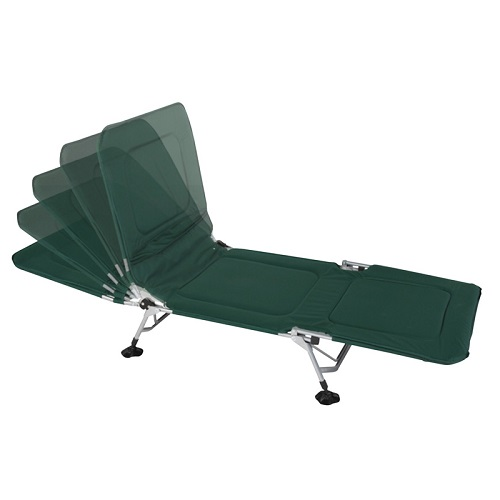 Wenzel Ultimate Camp Cot With Multi-position Backrest - Green