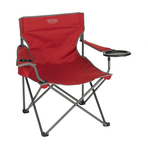 Wenzel Banquet Chair Xl With Built-in Food Tray - Red